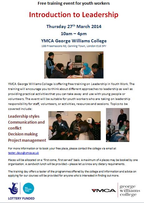 YMCA Taster day leadership