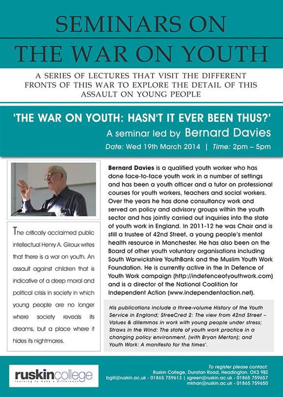 War on Youth Ruskin