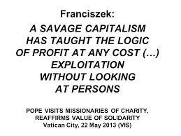 pope savage capitalism