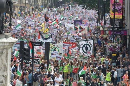 London Gaza demo