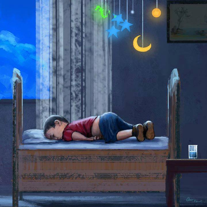 His name was Aylan. He was 3 years old. He drowned at sea with his mother and his 5 year old brother, Galip. They fled from violence, oppression and poverty and tried to reach Europe. They symbolise the desperation of thousands. This is how he should have been lying tonight. Safe. Warm. Alive.  Our Europe didn't let him. We need another Europe.