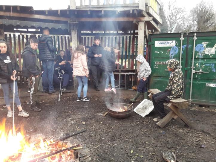 winter round fire