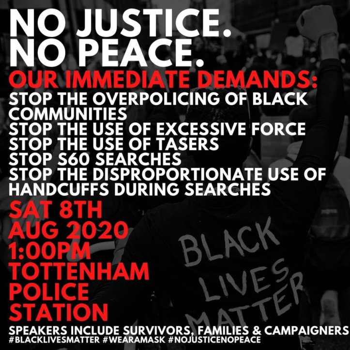 tottenham police station protest